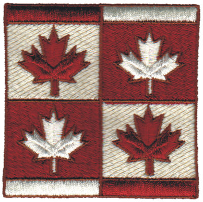 "Embroidery Design: Maple Leaf Collage3.09"" x 3.09"""