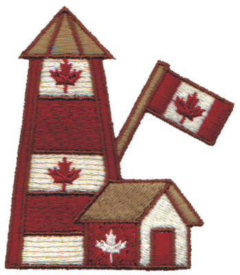 """Embroidery Design: Canadian Lighthouse2.80"""" x 3.16"""""""
