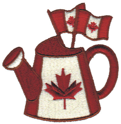 """Embroidery Design: Canadian Watering Can3.09"""" x 3.14"""""""