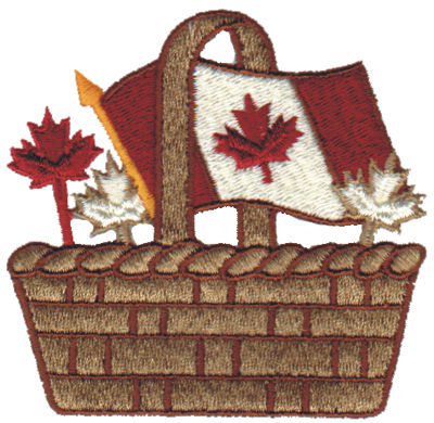 "Embroidery Design: Canadian Basket3.05"" x 3.00"""