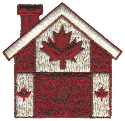 "Embroidery Design: Canadian Birdhouse3.07"" x 2.99"""