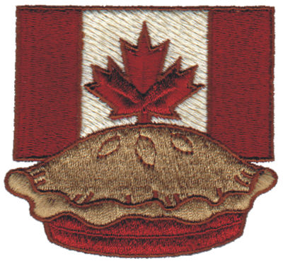 "Embroidery Design: Canadian Pie3.13"" x 2.91"""