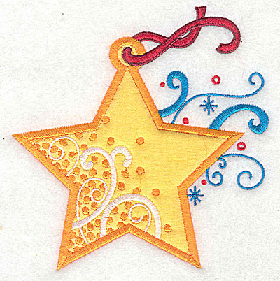 Embroidery Design: Christmas Ornament applique 4.63w X 4.76h