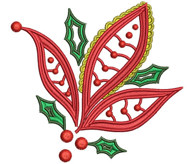 Embroidery Design: Christmas Paisley 1 3.28w X 3.07h
