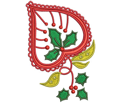 Embroidery Design: Christmas Paisley 2 2.26w X 3.27h