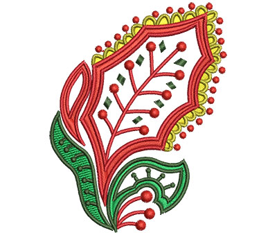Embroidery Design: Christmas Paisley 3 2.53w X 3.28h