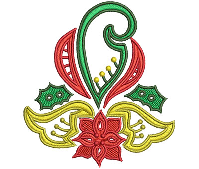 Embroidery Design: Christmas Paisley 5 2.99w X 3.27h