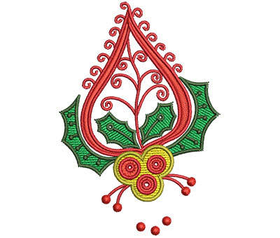 Embroidery Design: Christmas Paisley 7 2.26w X 3.27h