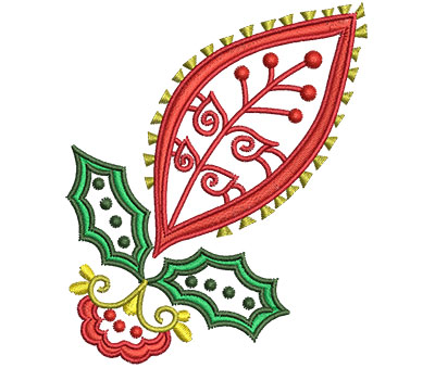 Embroidery Design: Christmas Paisley 8 2.71w X 3.27h