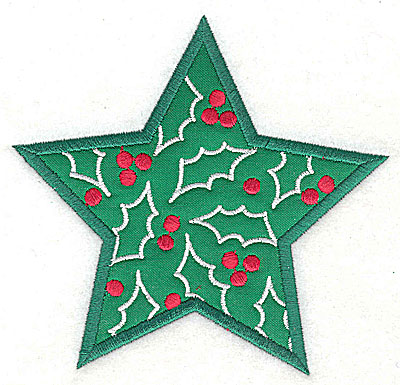 Embroidery Design: Christmas Star applique 4.79w X 4.56h