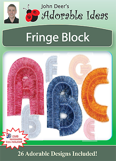 Embroidery Design: Fringe Block