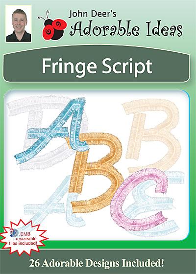 Embroidery Design: Fringe Script