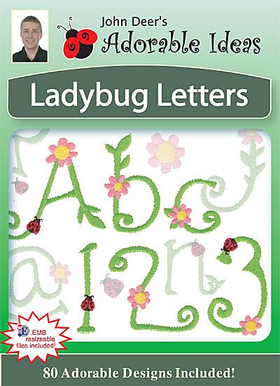 Embroidery Design: Ladybug Letters Font