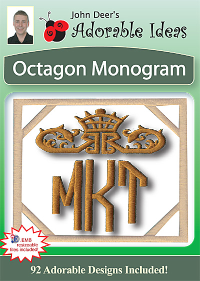 Embroidery Design: Octagon Monogram