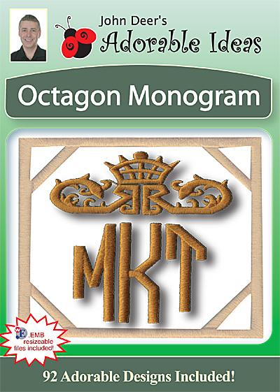 Embroidery Design: Octagon Monogram