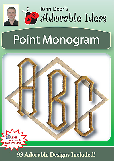 Embroidery Design: Point Monogram
