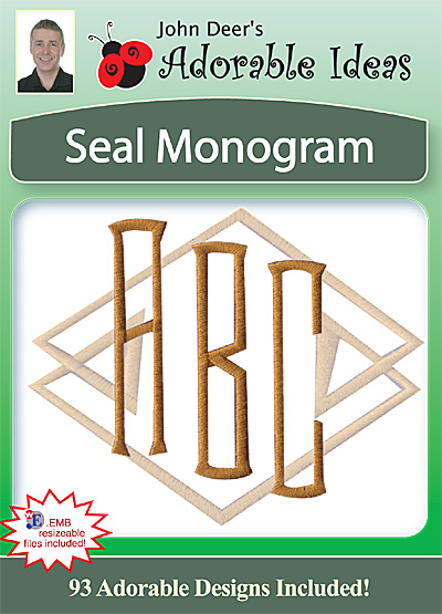 Embroidery Design: Seal Monogram