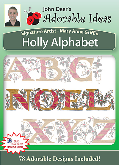 Embroidery Design: Holly Alphabet