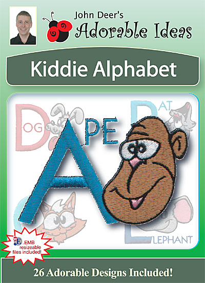 Embroidery Design: Kiddie Alphabet