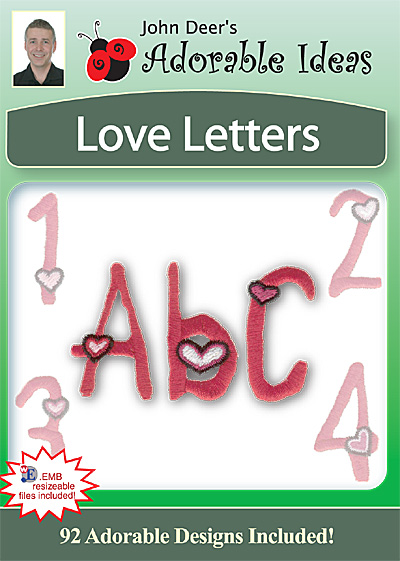Embroidery Design: Love Letters