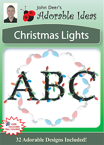 Embroidery Design: Christmas Lights
