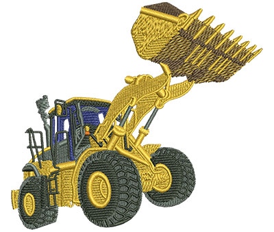 Embroidery Design: Front End Loader Lg 4.51w X 4.08h