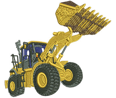 Embroidery Design: Front End Loader Sm 3.51w X 3.18h