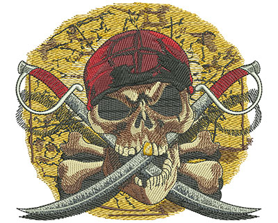 Embroidery Design: Pirates Revenge lg5.02 in. x 5.47 in
