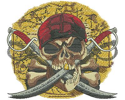 Embroidery Design: Pirates Revenge lg5.02 in. x 5.47 in