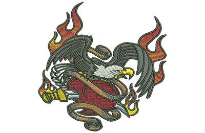Embroidery Design: Eagle Tattoo Lg 4.50w X 4.53h