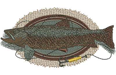 Embroidery Design: Brown Trout Lg 4.54w X 2.42h