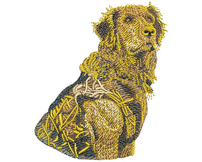 Embroidery Design: Golden Hunter Sm 2.93w X 3.49h