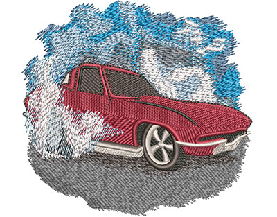 Embroidery Design: Classic Red Car Med 3.92w X 3.66h
