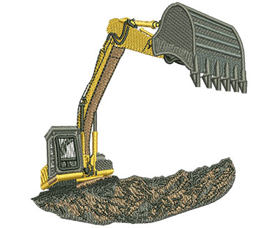 Embroidery Design: Backhoe Loader Lg 3.44w X 3.57h