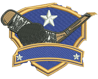 Embroidery Design: Hockey Grunge Sticker Med 3.02w X 2.31h