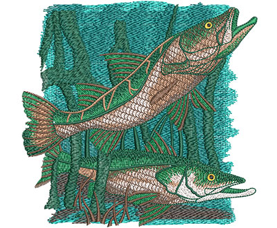 Embroidery Design: Snook Lg 5.98w X 5.76h