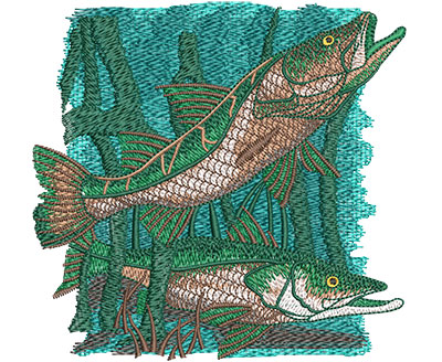 Embroidery Design: Snook Med 4.98w X 4.78h