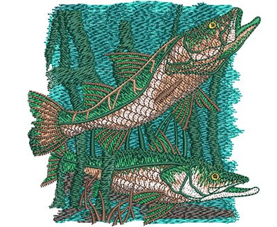 Embroidery Design: Snook Sm 3.98w X 3.82h
