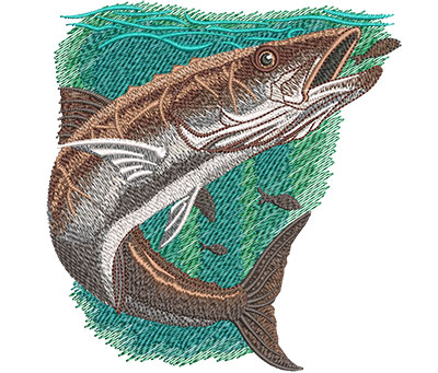 Embroidery Design: Cobia Med 4.87w X 5.09h