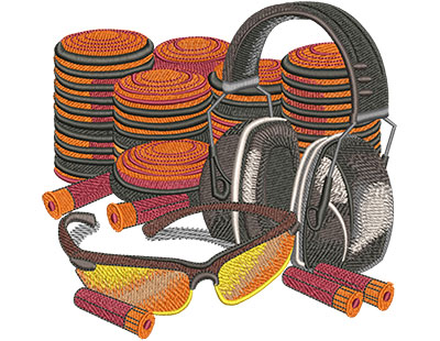 Embroidery Design: Clay Pigeon Lg 6.07w X 5.80h