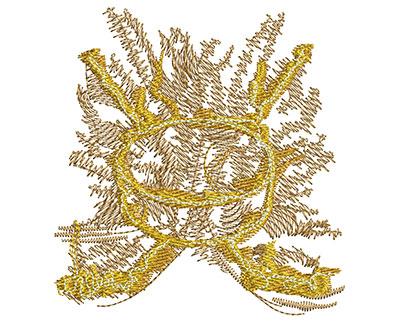 Embroidery Design: Hockey Smoke Glow Med 3.24w X 3.43h