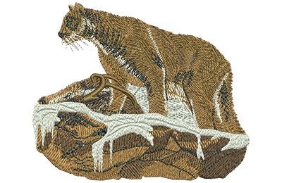 Embroidery Design: Mountain Lion Wildlife Lg 4.46w X 3.68h