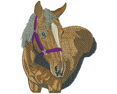 Embroidery Design: Horse Lg 4.95w X 5.95h