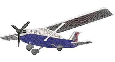 Embroidery Design: Cessna Plane Lg 5.48w X 2.28h