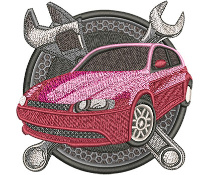 Embroidery Design: Car Repair Lg 4.56w X 4.50h
