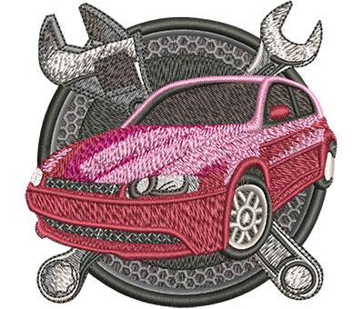 Embroidery Design: Car Repair Sm 3.56w X 3.51h