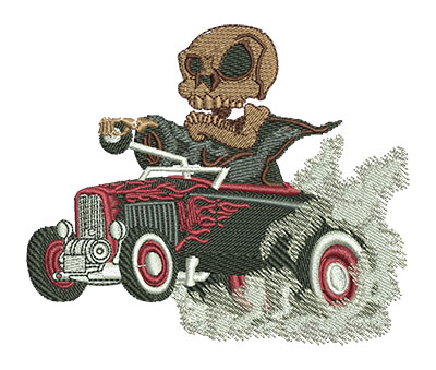 Embroidery Design: Reaper Hot Rod Med 4.02w X 3.35h