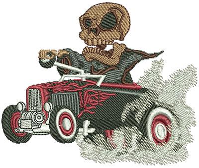 Embroidery Design: Reaper Hot Rod Sm 3.52w X 2.92h
