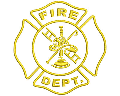 Embroidery Design: Firefighter Maltese Emblem Lg 3.95w X 4.01h