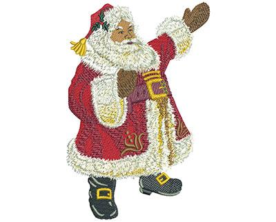 Embroidery Design: Santa Cheer Lg 3.97w X 6.02h